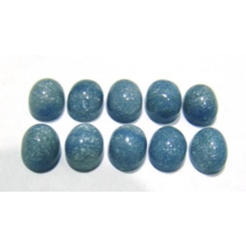 Quartzo Azul Cabochão Oval 10x8 mm