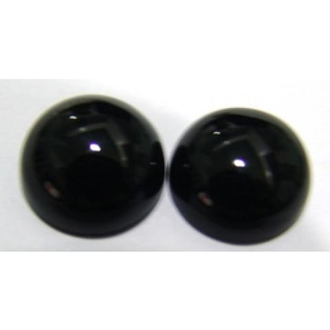 Quartzo Black Cabochão Redondo 16x16 mm