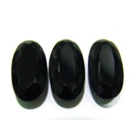 Quartzo Black Oval Facetado 20x10 mm