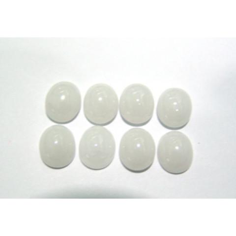 Quartzo Branco Oval Cabochão 12x10 mm