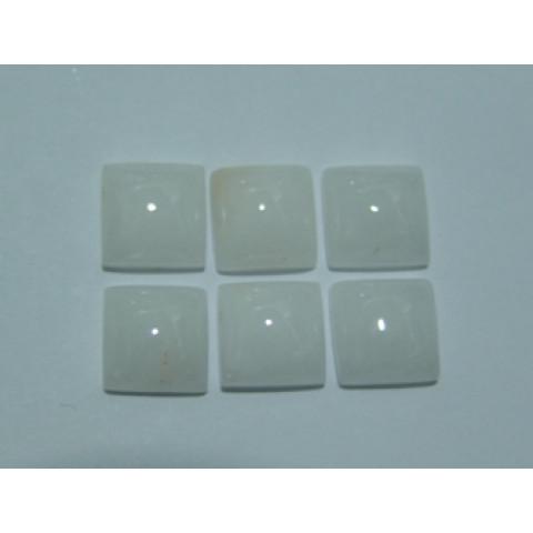 Quartzo Branco quadrado Cabochão 10.50x10.50 mm