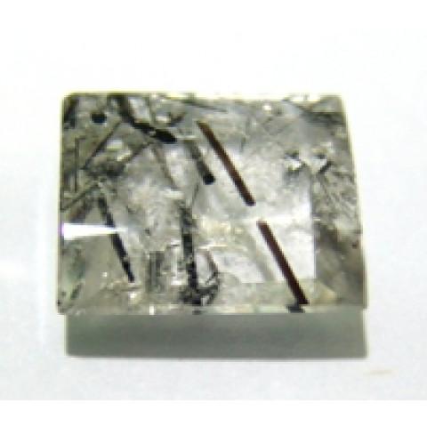 Quartzo Grafitado Retangular Cabochão 19x16 mm