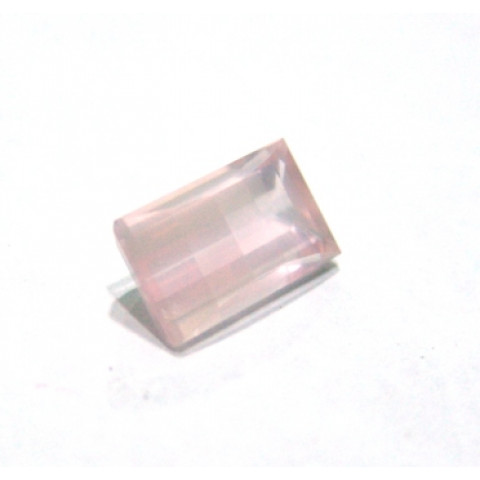 Quartzo Rosa Baguete, Lapidação especial 14x8 mm