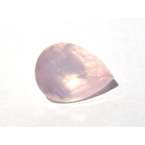 Quartzo Rosa - Gota Facetada 21x16mm
