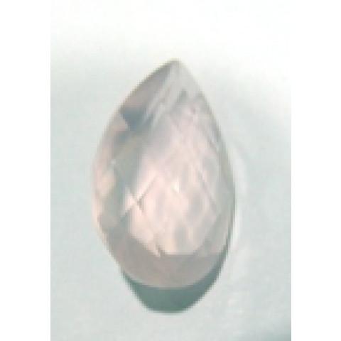 Quartzo Rosa Gota Facetada 25x15 mm