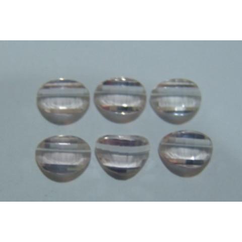 Quartzo rosa lapidação especial Oval Pós barra 9x6 mm