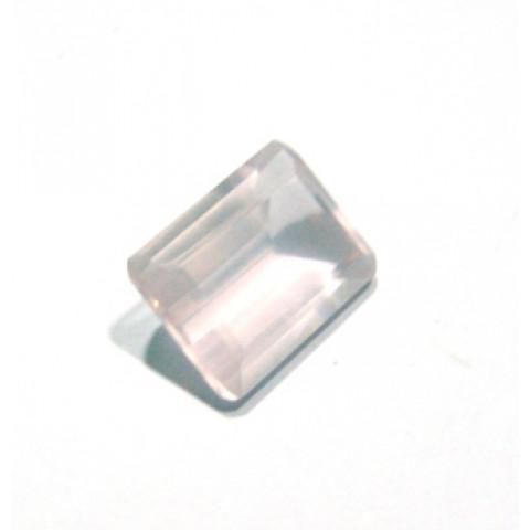 Quartzo Rosa Retangular Facetada 18x13 mm