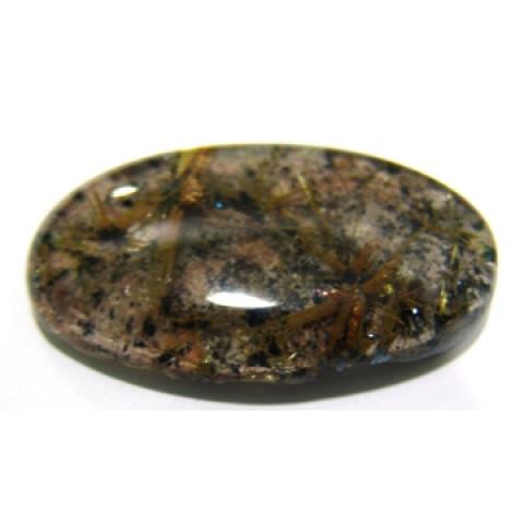 Quartzo Rutilado Com Formações Minerais Oval 47x27 mm