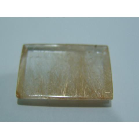 Quartzo Rutilado - Retangular Facetado 32x23 mm