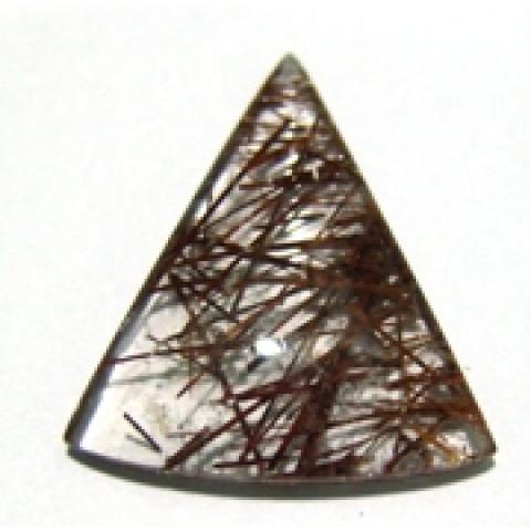 Quartzo Rutilado Triangular 32x28 mm