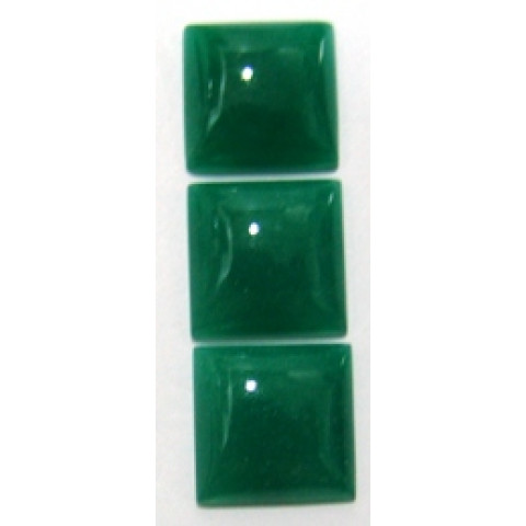 Quartzo Verde Carrê Cabochão 20x20x7 mm