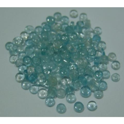 Topázio Azul Forma Pneu com Furo 6 mm