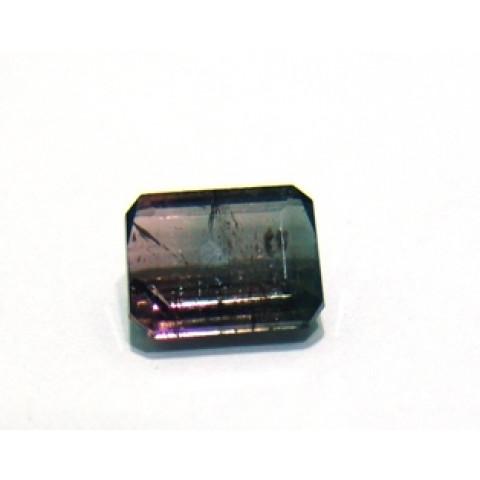 Turmalina Rosa Bicolor - Retangular  Facetada 8.50x7 mm