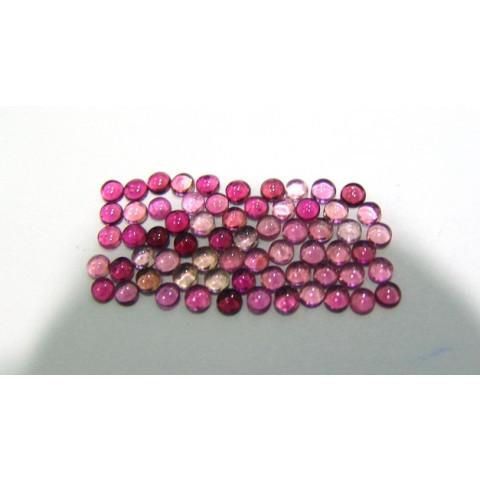 Turmalina Rosa Cabochão Redondo 3.50 mm