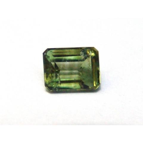 Turmalina Verde - Retangular Facetada 8x6mm