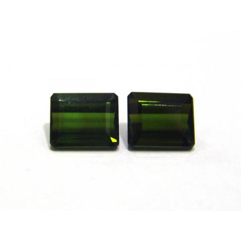 Turmalina Verde - Retangular Facetado 9x7.50 mm