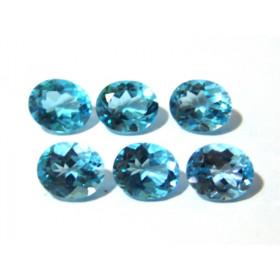 Topázio Azul Swiss Blue Oval Facetado 12x10 mm