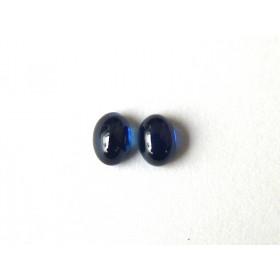 Safira Azul Par Oval Cabochão 7x5 mm