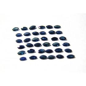 Safira Azul Navete Facetada 6x3 mm