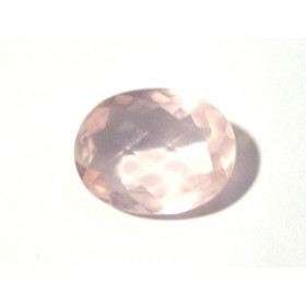 Quartzo Rosa Oval Facetada 24.50x19 mm