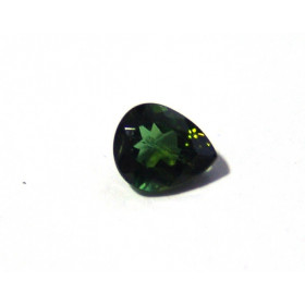 Turmalina Verde - Gota Facetado 9x7 mm