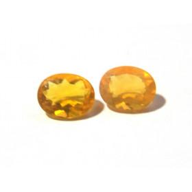 Opala de Fogo - Oval Facetado 9x7 mm