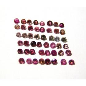 Turmalina Rosa - Redonda Facetada 4 mm