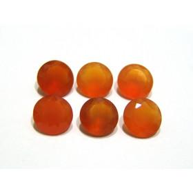 Cornalina - Redonda Facetada 12 mm