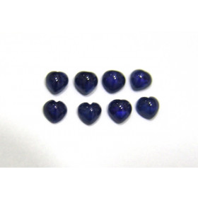 Safira Azul Coração Cabochão 5 mm
