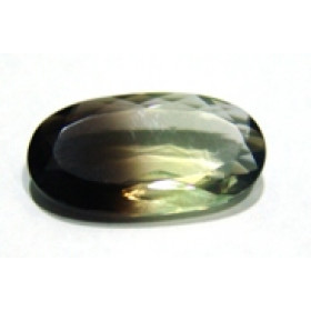 Green Gold Bicolor Oval Facetado  26x14 mm