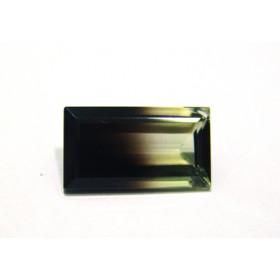Green Gold Bicolor Retangular Facetada 20x11 mm