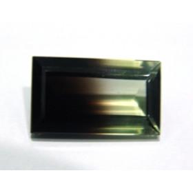 Green Gold Bicolor - Retangular Facetado 24x14 mm