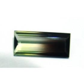 Green Gold Bicolor - Retangular Facetado 26x11 mm