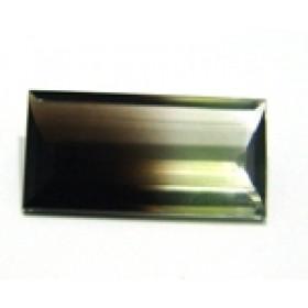 Green Gold Bicolor - Retangular Facetado 29x14 mm