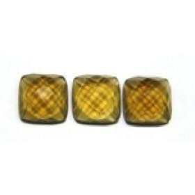 Green Gold Conhaque  Antique Briolet Fundo Plano 10x10x5 mm