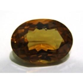 Green Gold Conhaque - Oval Facetado 23x16 mm