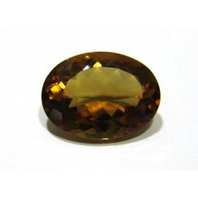 Green Gold Conhaque - Oval Facetado 23x17 mm