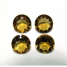 Green Gold Conhaque Redondo Facetado 16 mm
