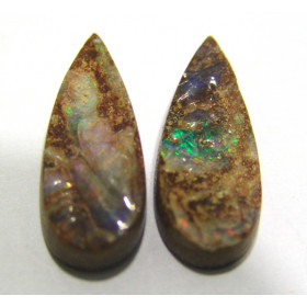 Opala Matriz - Par de Gotas 29x12 mm