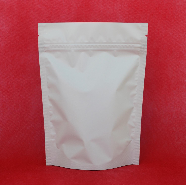 Saco Branco Fosco com Zip 14 x 22cm - 50 UNIDADES