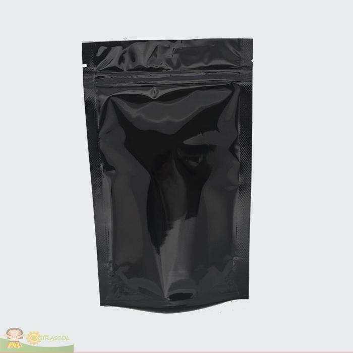 Saco Preto com Zip 8,5 x 12cm - 100UN