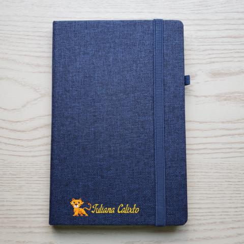 Caderno Grande com capa em algodão - Personalizado