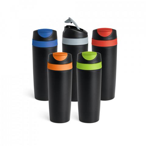 Copo para viagem com tampa rosqueável e bico - 510ml