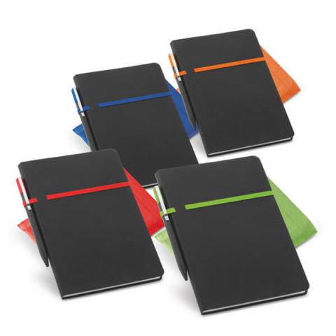Caderno - Capa Couro Sintético 14 x 21cm com caneta - unitário