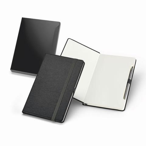 Caderno - Capa Dura com Caneta 13,9 x 21,6cm - unitário