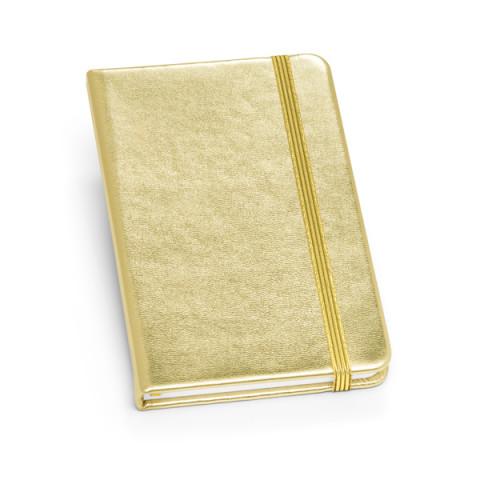 Caderno - Capa Dura couro sintético com caneta 9 x 14cm - unitário