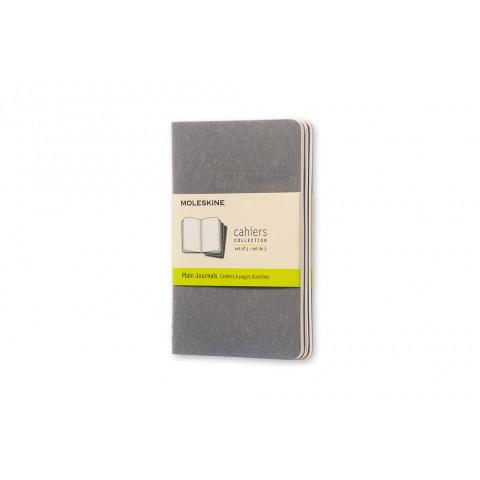 Caderno Moleskine Cahier de bolso, sem pauta com caneta - CINZA