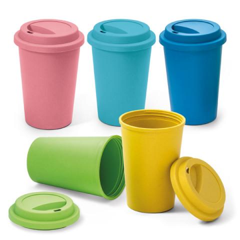 Copo Fibra De Bambu Para Café Sustentável  Colorido