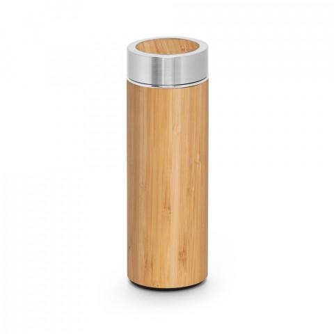 Garrafa térmica - Bambu e aço inox - 430ml