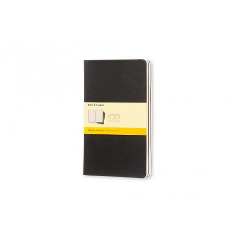 Caderno Moleskine Cahier grande com folhas quadriculadas e caneta - PRETO